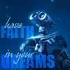 wall-e faith in dreams