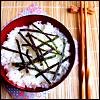 rice and seaweeds