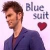 renee: Blue suit love!