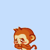 超ちゃ人: animate monkey: shy