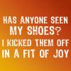 Position Means Value!: Joy; Shoes