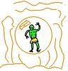 green bubble monkeyboy