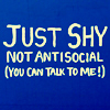 just shy