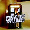 fancy a trip?, tardis- go for a ride