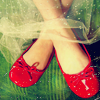Stephanie: red slippers