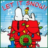 christmas/winter: snoopy