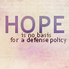 Fritters: Hope is not a Foreign Policy by elektric