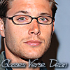 softbluebuddy: Glasses Dean with writing
