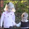 audrey & adeline holding hands