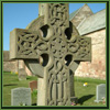 cross gravestone and grass
