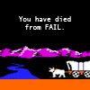 You have died from FAIL, Oregon Trail - You have died from FAIL, FAIL