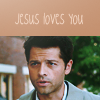 Sarah :): SPN--Castiel is a gift from Jesus! ;)