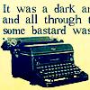 R - some bastard typing
