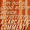 Sarcastic comment?
