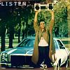 listen, music, holding up my music box