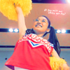 Gokusen: Yankumi cheering in a cheerleading outfit.