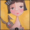 девочка с зайцем