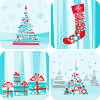 xmas: cyan and red by