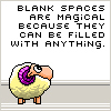 magical blank spaces