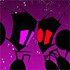 Super Fighting Robot VAVA: INVADER ZIM--red & purple