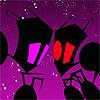 Super Fighting Robot VAVA: INVADER ZIM--red & purple