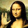 TOS/Mona Lisa Vulcan salute