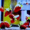 Katy: {random} falling strawberries (Roswell)