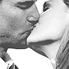 bones; booth& brennan→ kiss