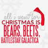 Miss Sophia: The Office - Xmas Bears Beets BSG