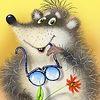 мышка и очки