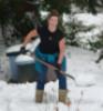 snow, shovel