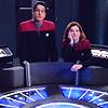 Chakotay and Janeway bored