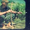 jack barefoot and fishing