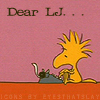 "snoopy: woodstock ""Dear LJ"""