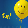 general: Yay! yellow balloon