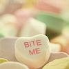 Miss Sophia: Candy heart - Bite me