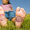 Miss Sophia: Happy faces - on child's feet