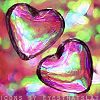 Miss Sophia: Heart - iridescent bubbles