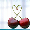 Miss Sophia: Hearts - twin cherries