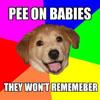 Pee on babies