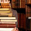 books in stacks.