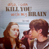 Lizbeth: i can kill you with my brain