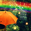 Kathy: rainbow umbrella