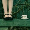 feet and tea cup