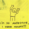 Mary: ST;i'm so adjective i verb nouns!