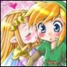 Link/Zelda kiss