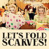 Romy and Michele - Let's Fold Scarves