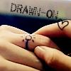 Full House kdrama: Close up of YoungJae's hand holding JiEun's, a ring drawn on JiEun's finger.