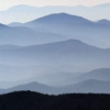 misc mountain ridges - mt mitchell nc