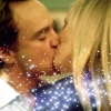 Transition kiss with sparks